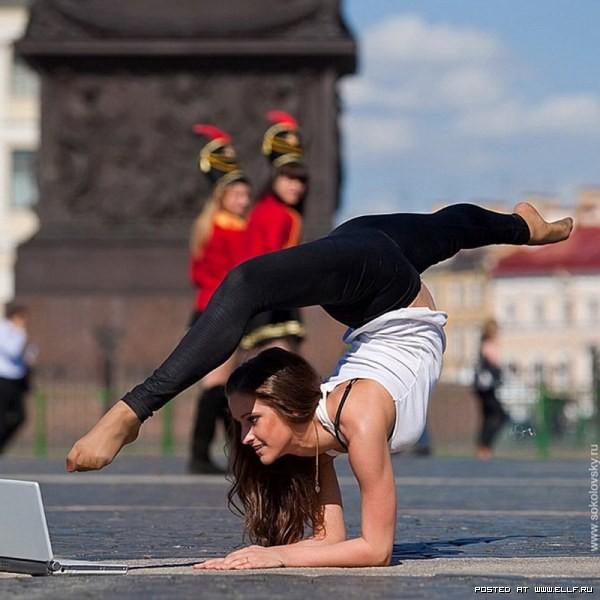 фото гимнастики на улице