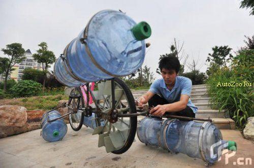 Как сделать на велосипед пластиковые бутылки